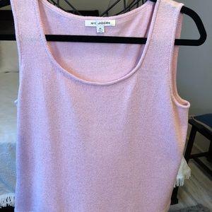 St. John Santana knit pink shell Medium